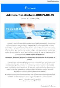 , FexDental Comunicado COVID-19